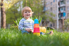 child on the grass Stock Photography