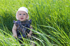 Child on grass Royalty Free Stock Photos