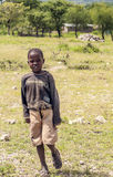 Child, in the grasslands of Tanzania Stock Photography