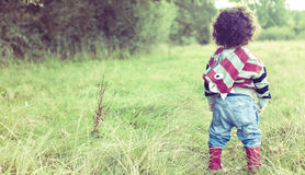 Child in great outdoors Royalty Free Stock Photos