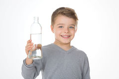 Child with a grey t-shirt Royalty Free Stock Images