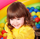 Child in group colourful ball. Stock Images