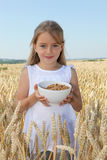 Child growth and healthy food Royalty Free Stock Images