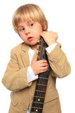 Child with guitar stock photos