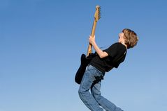 Child with guitar Royalty Free Stock Images