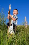 Child with guitar Stock Photo
