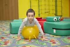 Child in the gym. royalty free stock photography