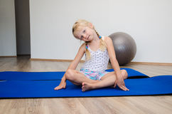 Child in the gym Royalty Free Stock Images