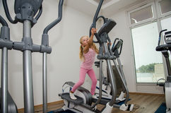 Child in gym Stock Photos