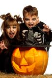 Child in halloween costume Stock Photos