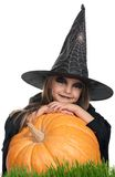 Child in halloween costume Stock Images