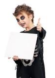 Child in halloween costume stock image