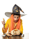Child Halloween expression Stock Photography