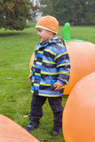 Child in Halloween park Royalty Free Stock Photo