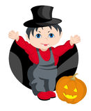 The child - HALLWEEN. The child playing in a trade stock illustration