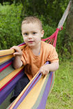 Child in hammock Royalty Free Stock Image