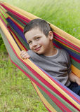 Child in hammock Royalty Free Stock Photo