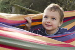 Child in hammock Stock Photos