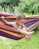 Child in hammock Royalty Free Stock Photography