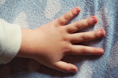 Child hand closeup Royalty Free Stock Photography