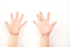 Child hand gesture Stock Photo