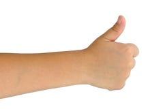 Child hand  isolated on white. Background Stock Photos