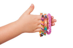 Child Hand with Loom strap Royalty Free Stock Photo