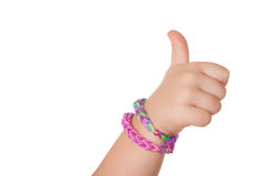 Child Hand with Loom strap Stock Photography