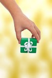 Child hand offering a gift Royalty Free Stock Photos