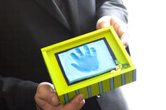 Child hand print Royalty Free Stock Images