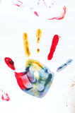Child hand prints Royalty Free Stock Photography