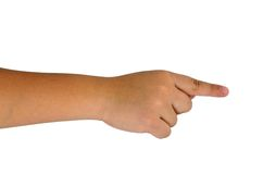 Child hand on white background Stock Photography