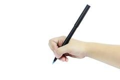 Child hand writing Stock Photo