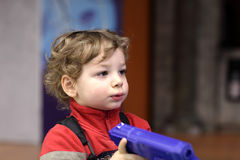 Child with handgun Stock Photo