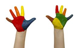 Child hands Stock Images