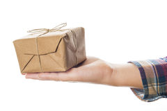 Child hands with Christmas gifts Stock Photo