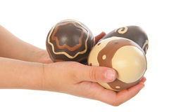 Child hands with easter eggs Royalty Free Stock Photo