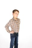 Child hands on hips Royalty Free Stock Photography