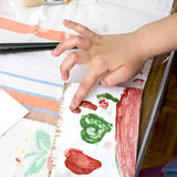 Child hands painting Royalty Free Stock Image