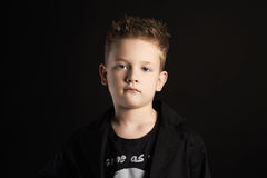 Child. handsome little boy.fashionable kids Stock Image