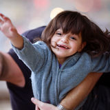 The child with happiness in eyes Royalty Free Stock Image