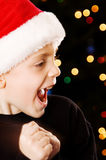 Child happy for Christmas Stock Images