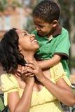 child happy mother Royaltyfria Bilder