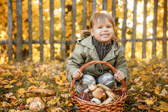 Child happy outdoors. Royalty Free Stock Photos
