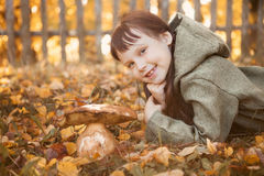 Child happy outdoors. Royalty Free Stock Image