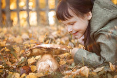 Child happy outdoors. Royalty Free Stock Images