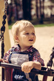 Child happy riding Royalty Free Stock Images