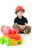 Child  with hard hat Stock Photos