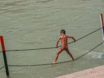 Child in Haridwar Stock Images