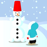 Child has done snowman Stock Photography